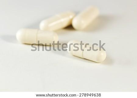 Vaginal probiotic capsules - stock photo