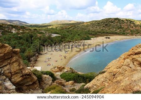 Vai Beach, Crete  - stock photo