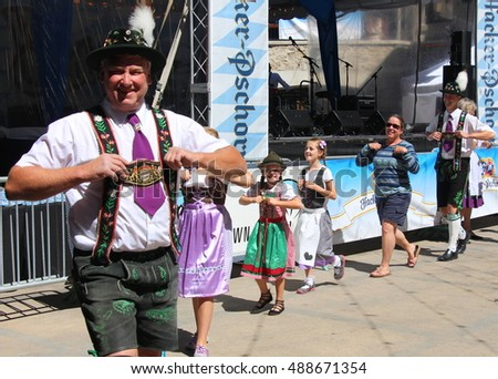VAIL, COLORADO, USA - September 10, 2016: Annual celebration of German culture, food and beer.