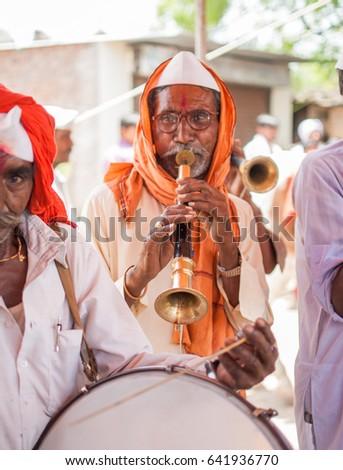 Playing Shehnai In Ganga Praying For Rains - The Sentinel