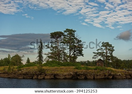 Valaam island in a summer day