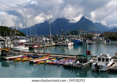 Valdez, Alaska Harbor - stock photo