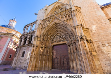 Valencia Cathedral Apostoles door where Tribunal de las Aguas traditional court meets in Spain
