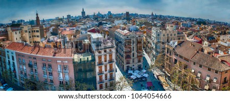 Valencia old town panorama
