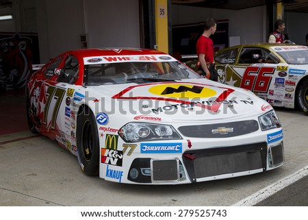 VALENCIA, SPAIN - APRIL 25: Luke Wright compete at Race 1 Elite 1 of Whelen Nascar Euro Series in Ricardo Tormo circuit, on April 25, 2015, in Cheste, Valencia, Spain. The winner was Eddie Cheever.