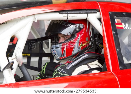 VALENCIA, SPAIN - APRIL 25: Wilfried Boucenna at Race 1 Elite 1 of Nascar Whelen Euro Series in Ricardo Tormo circuit, on April 25, 2015, in Cheste, Valencia, Spain. The winner was Eddie Cheever.