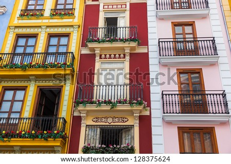 Valencia Spain architecture - travel background - stock photo
