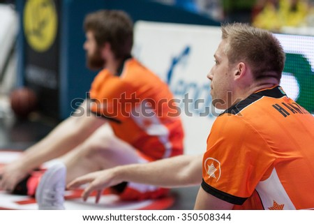 VALENCIA, SPAIN - DECEMBER 12th: Hamilton during Spanish League between Valencia Basket Club and Montakit Fuenlabrada at Fonteta Stadium on December 12, 2015 in Valencia, Spain - stock photo