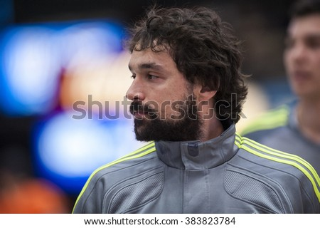 VALENCIA, SPAIN - FEBRUARY 28: Sergio Llull during ENDESA LEAGUE match between Valencia Basket Club and Real Madrid at Fonteta Stadium on   February, 2016 in Valencia, Spain