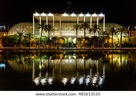 VALENCIA, SPAIN - JULY 24, 2016: Palau de la Musica (Music Palace) de Valencia is a concert, cinema, arts, and exhibition hall in Valencia and home of the city municipal orchestra founded 1943.