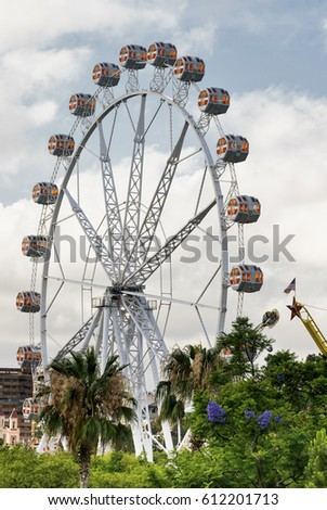 VALENCIA, SPAIN - JULY 14, 2016: Valencia (Spain), the big wheel in the park