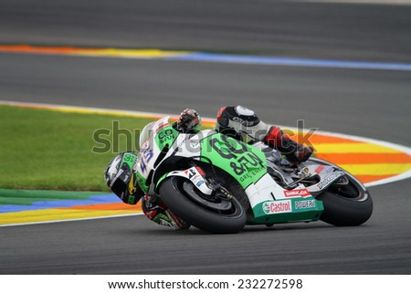 VALENCIA - SPAIN, NOVEMBER 9: British Honda rider Scott Redding at 2014 Generali MotoGP of Valencia on November 9, 2014