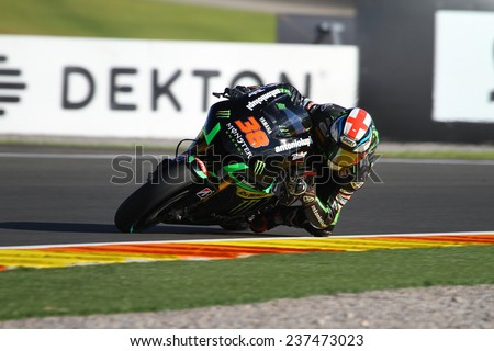VALENCIA - SPAIN; NOVEMBER 7: British Yamaha rider Bradley Smith at 2014 Generali MotoGP of Valencia on November 7, 2014