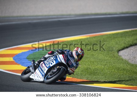 VALENCIA, SPAIN - NOVEMBER 6: Hector Barbera during Valencia MotoGP 2015 at Ricardo Tormo Circuit on November 6, 2015 in Valencia, Spain