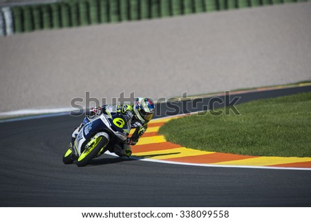 VALENCIA, SPAIN - NOVEMBER 6: Maria Herrera during Valencia MotoGP 2015 at Ricardo Tormo Circuit on November 6, 2015 in Valencia, Spain