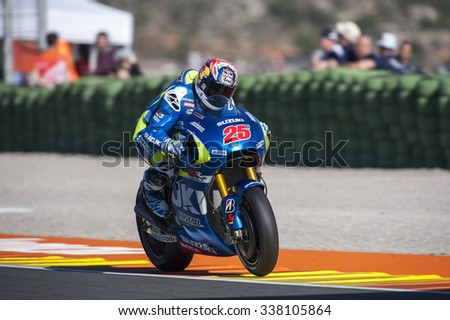 VALENCIA, SPAIN - NOVEMBER 6: Maverick Vi���±ales during Valencia MotoGP 2015 at Ricardo Tormo Circuit on November 6, 2015 in Valencia, Spain