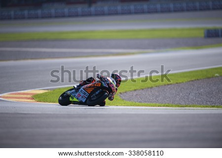 VALENCIA, SPAIN - NOVEMBER 8: Sam Lowes during Valencia MotoGP 2015 at Ricardo Tormo Circuit on November 8, 2015 in Valencia, Spain