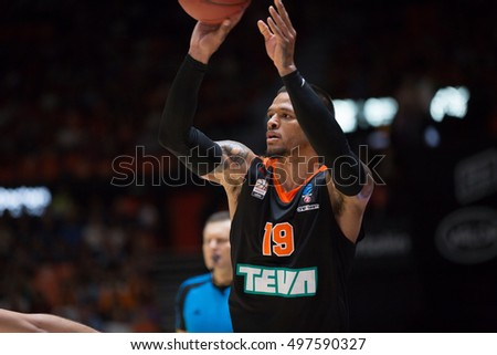 VALENCIA, SPAIN - OCTOBER 12th: Chris Babb during Eurocup match between Valencia Basket and Ratiopharm Ulm at Fonteta Stadium on October 12, 2016 in Valencia, Spain
