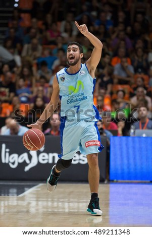 VALENCIA, SPAIN - SEPTEMBER 25th: Fernandez during match between Valencia Basket and Estudiantes at Fonteta Stadium on September 25, 2016 in Valencia, Spain