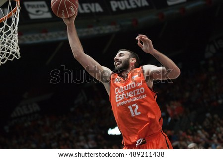 VALENCIA, SPAIN - SEPTEMBER 25th: Jankovic during match between Valencia Basket and Estudiantes at Fonteta Stadium on September 25, 2016 in Valencia, Spain
