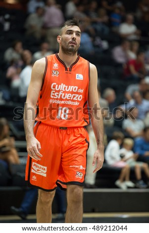 VALENCIA, SPAIN - SEPTEMBER 25th: Oriola during match between Valencia Basket and Estudiantes at Fonteta Stadium on September 25, 2016 in Valencia, Spain