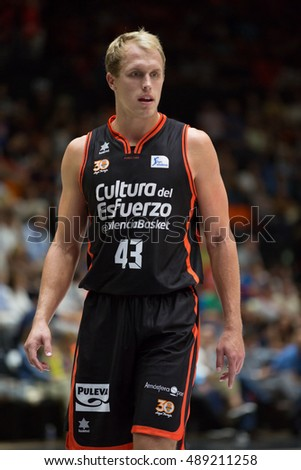 VALENCIA, SPAIN - SEPTEMBER 25th: Sikma during match between Valencia Basket and Estudiantes at Fonteta Stadium on September 25, 2016 in Valencia, Spain