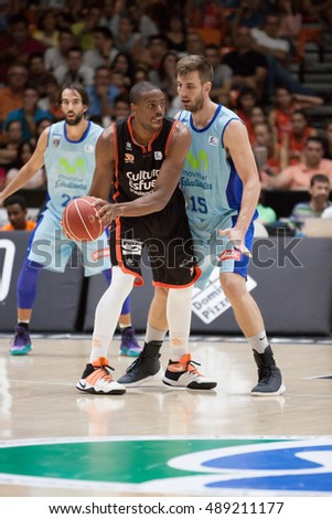 VALENCIA, SPAIN - SEPTEMBER 25th: Will with ball during match between Valencia Basket and Estudiantes at Fonteta Stadium on September 25, 2016 in Valencia, Spain