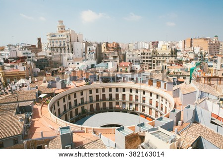 Valencia. View from a tower - stock photo