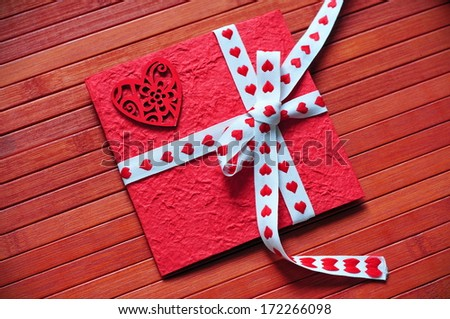 Valentine card - stock photo