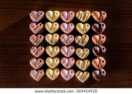Valentine Chocolates - stock photo