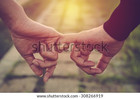 Loving Couples Holding Hands