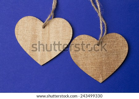 Valentine day background with heart - stock photo