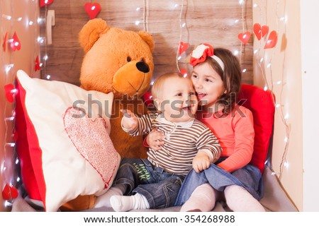 Valentine day decorations  - stock photo