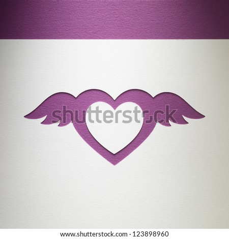 Heart wings stock vector 584070391 shutterstock for Craft paper card stock