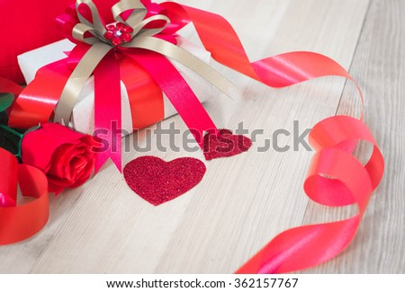 valentine decoration background with free space.