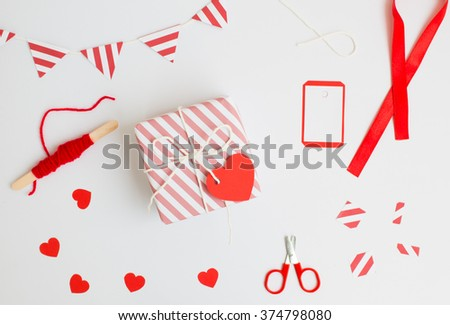 Valentine gift - stock photo