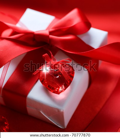 Valentine gift - stock photo