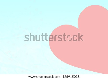 Valentine Heart Background with copywriting space - stock photo