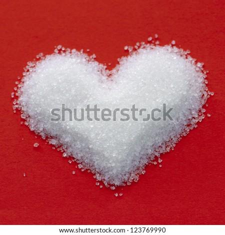 Valentine heart from sweet sugar. - stock photo