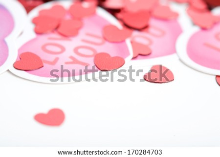 Valentine: Heart shaped decorations.