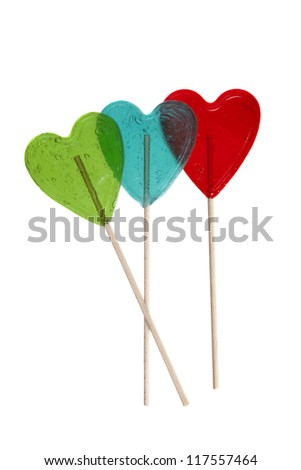 valentine lollypop - stock photo