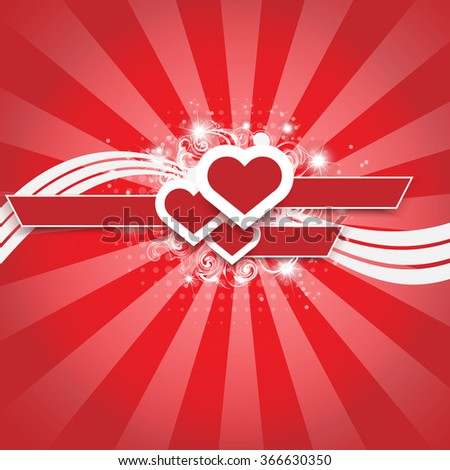 VALENTINE'S BACKGROUND FOR WEB HEART AND STARS WHITH SHADOW