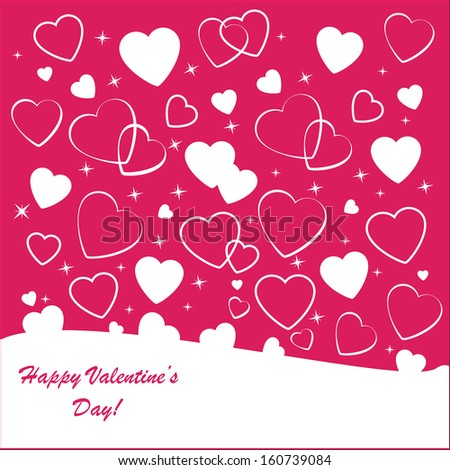 Valentine's background with many white hearts on pink phone