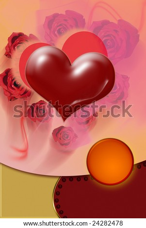 Valentine's card - stock photo