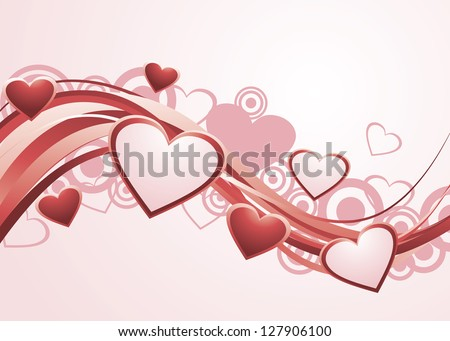 Valentine's Day Background. Vector version also available in gallery. - stock photo
