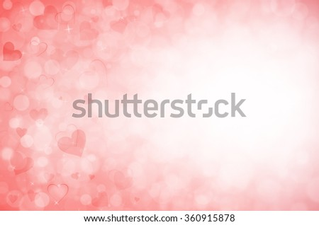 Valentine's day background with hearts.  - stock photo