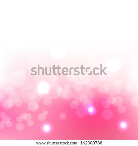 Valentine's day background with hearts. Pink card with space for text. Raster image. - stock photo