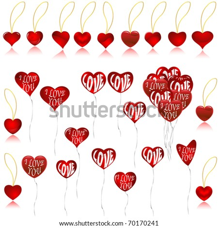 valentine's day balloons and necklaces