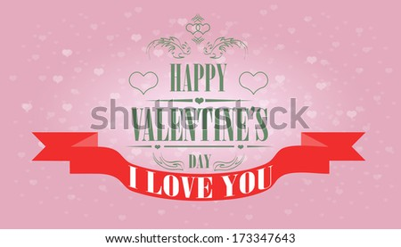 Valentine's day beautiful card.