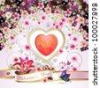 Valentine's day card - stock photo